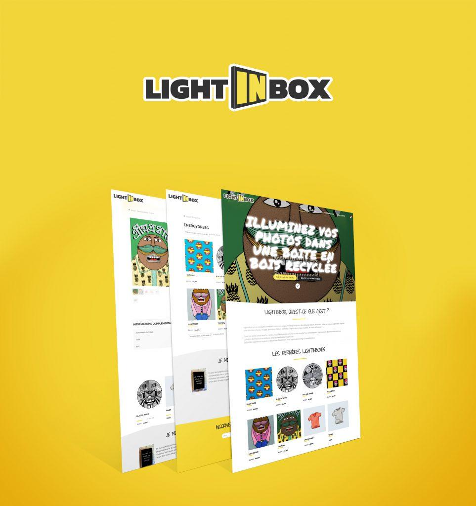 Webdesign de LightinBox.fr, boutique en ligne d'un artisan bordelais