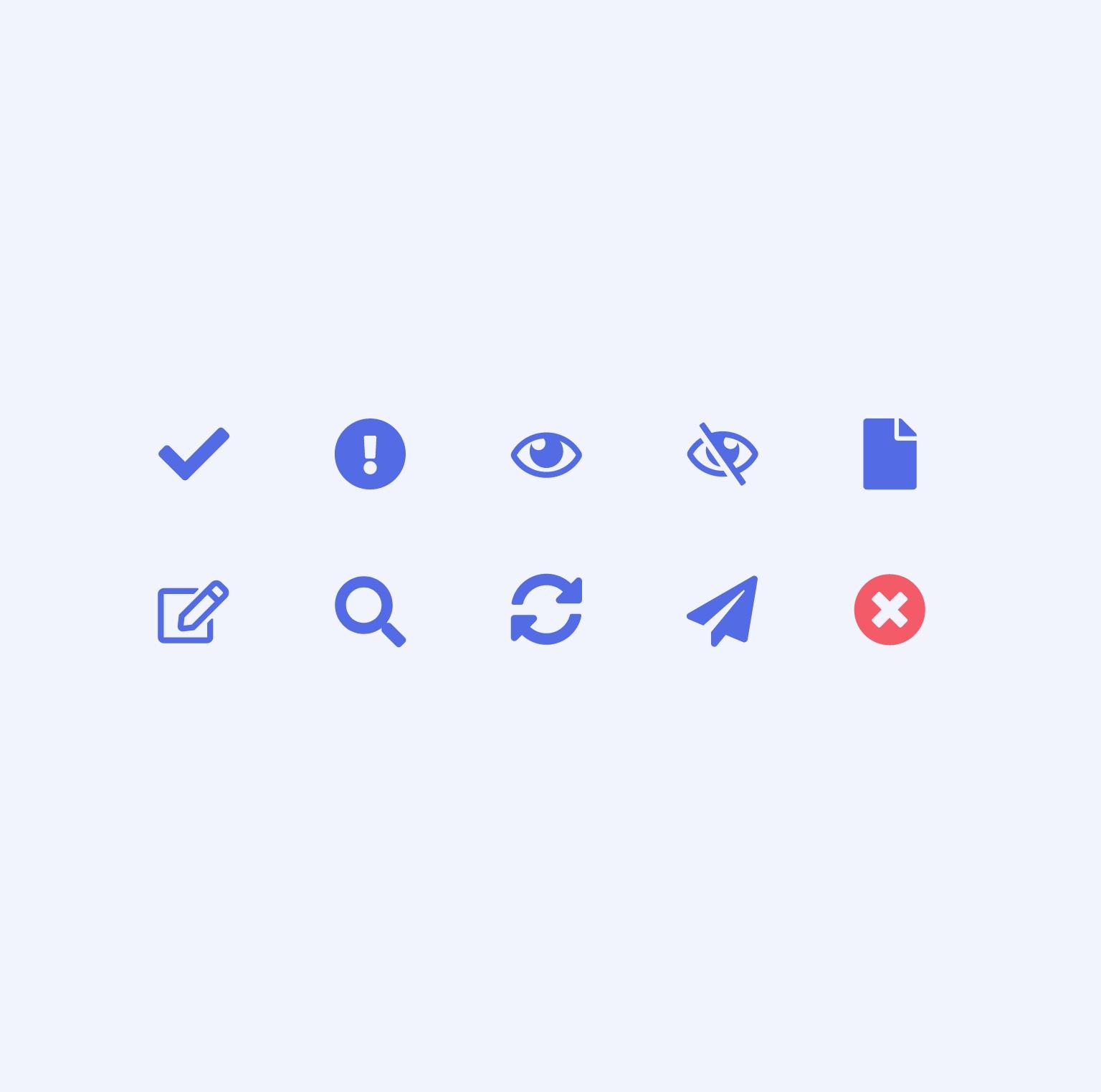 Charte graphique - Quelques icônes