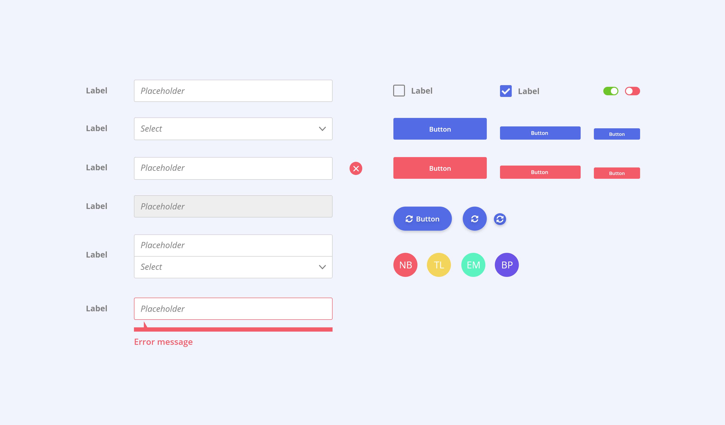 Atomic design - éléments d'interface