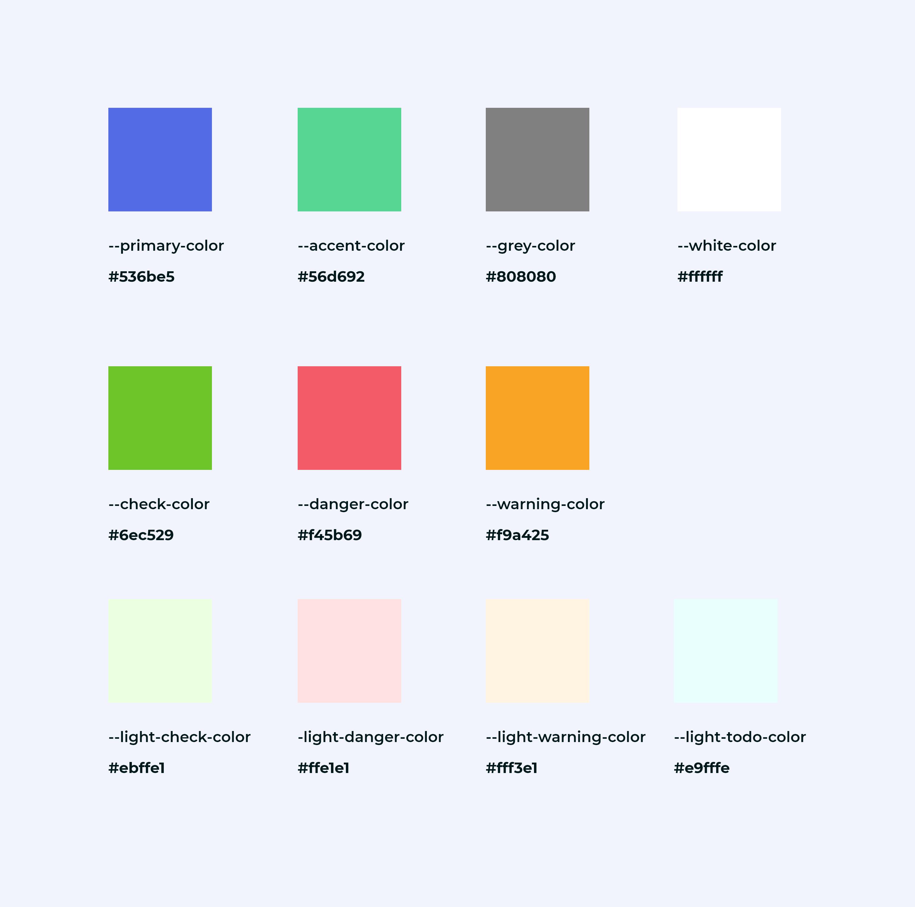 Charte graphique - palette de couleurs