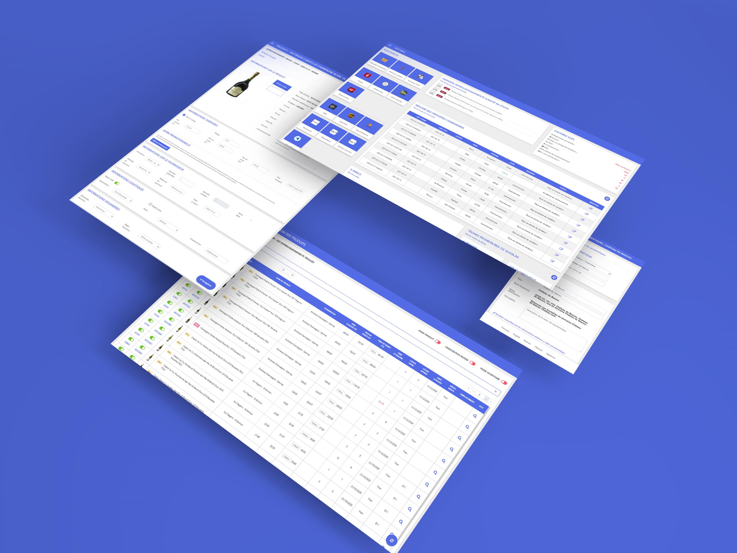 Webdesign et intégration d'une interface d'administration
