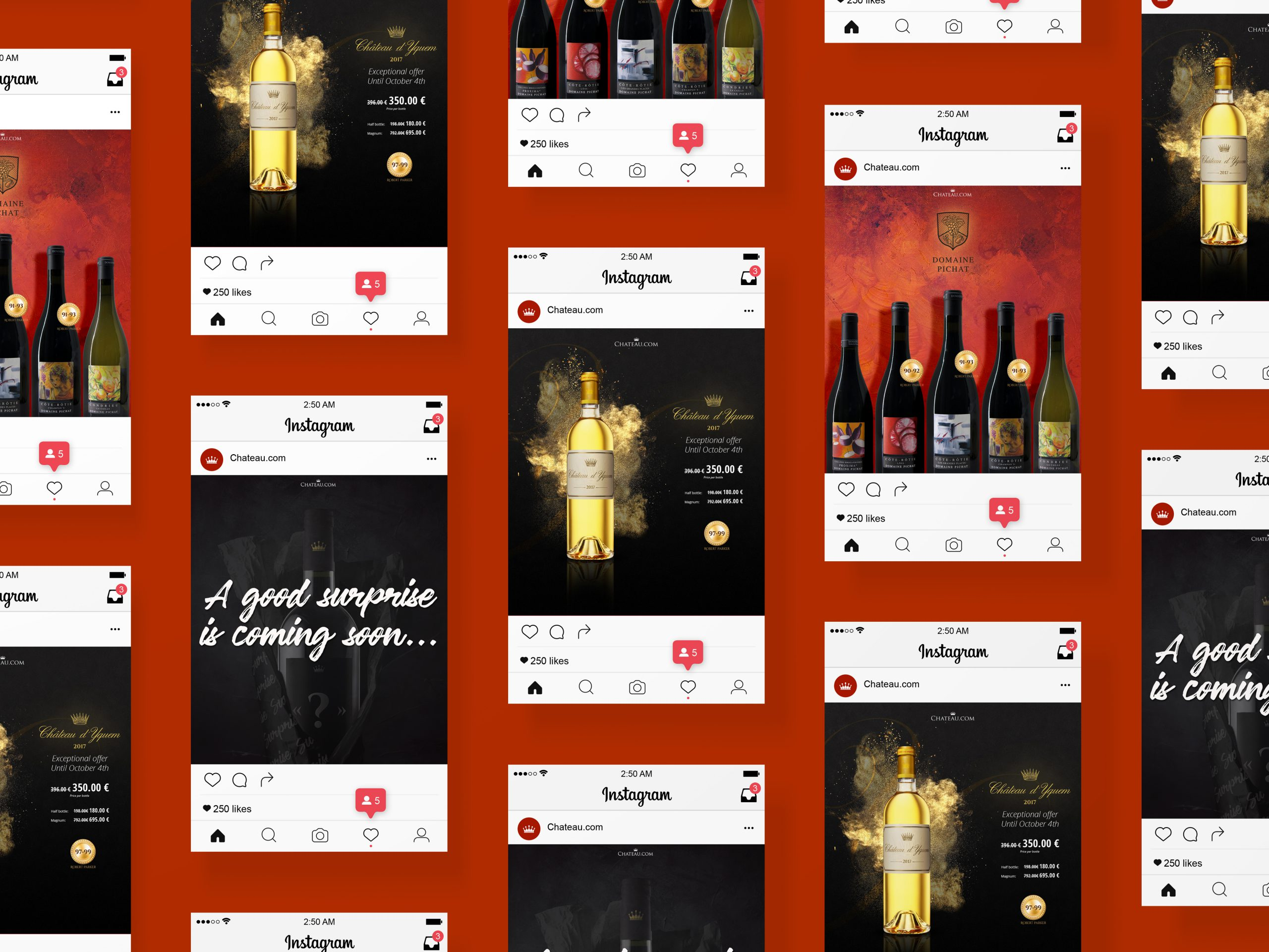 Exemples de contenus pour les réseaux sociaux de Chateau.com