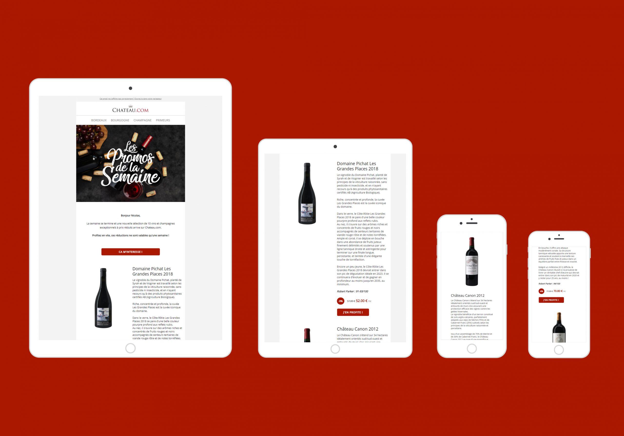 Template d'e-mail responsive pour Chateau.com