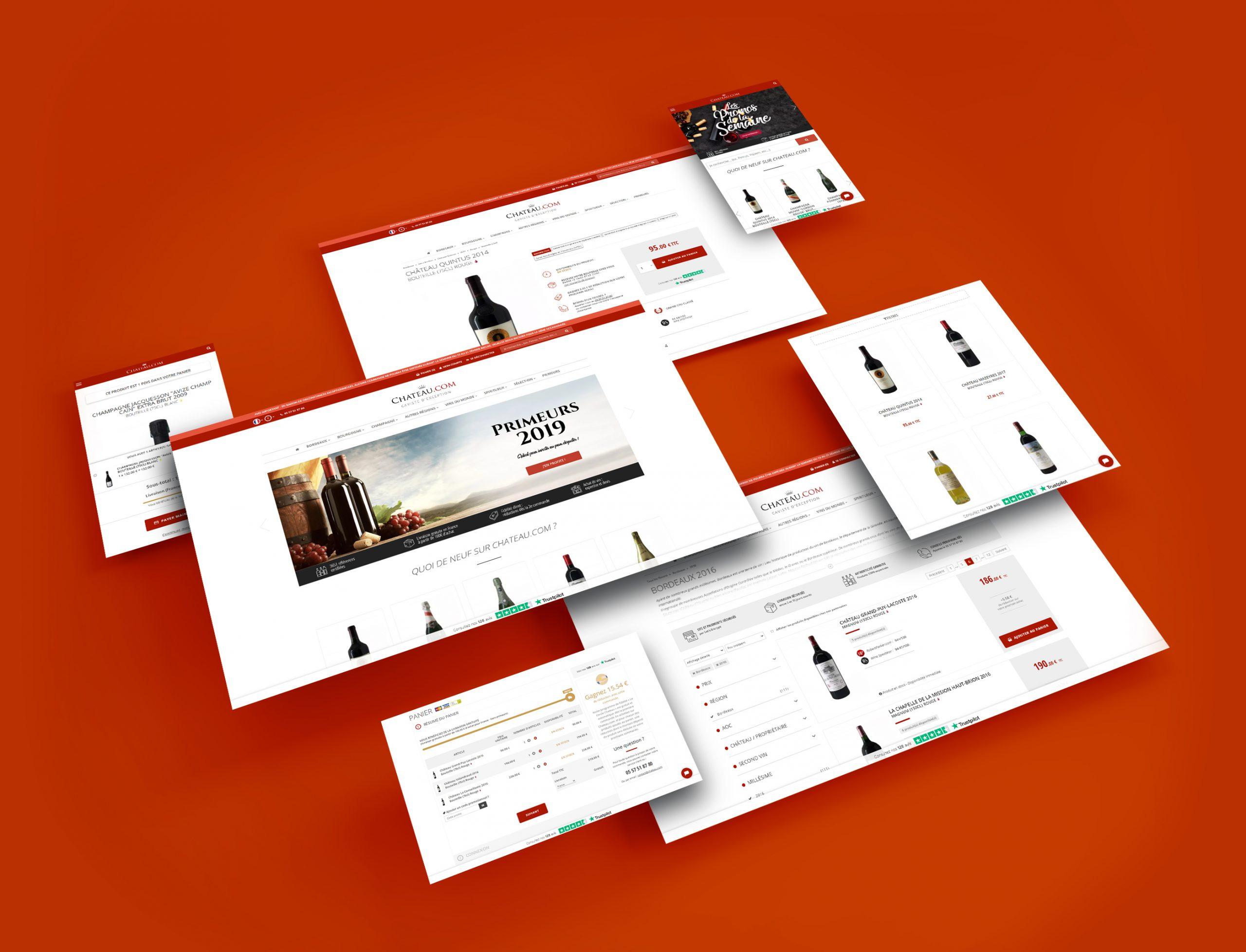 Webdesign et intégration du site Chateau.com