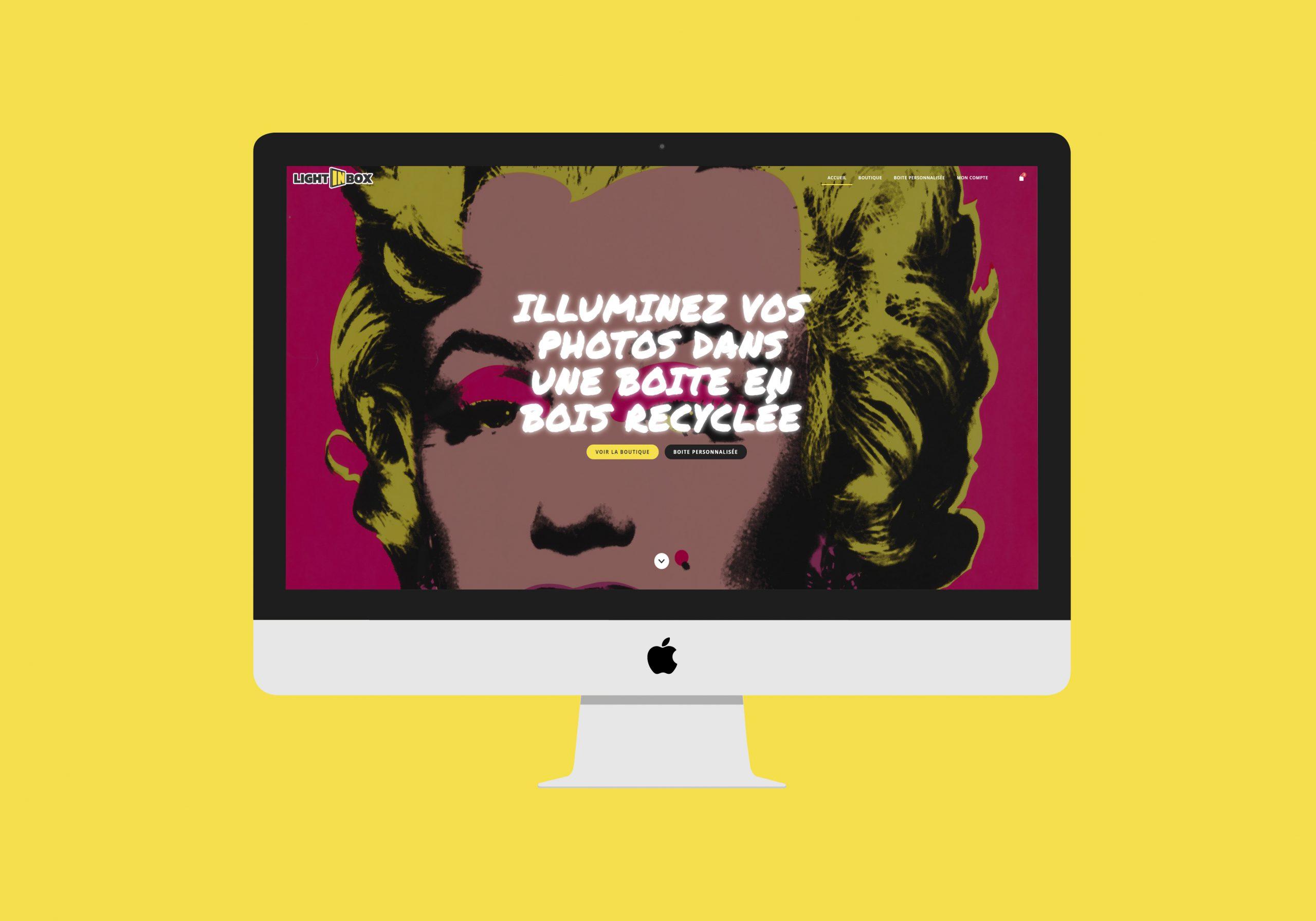 Design WooCommerce du carrousel d'accueil de la boutique sur grand écran
