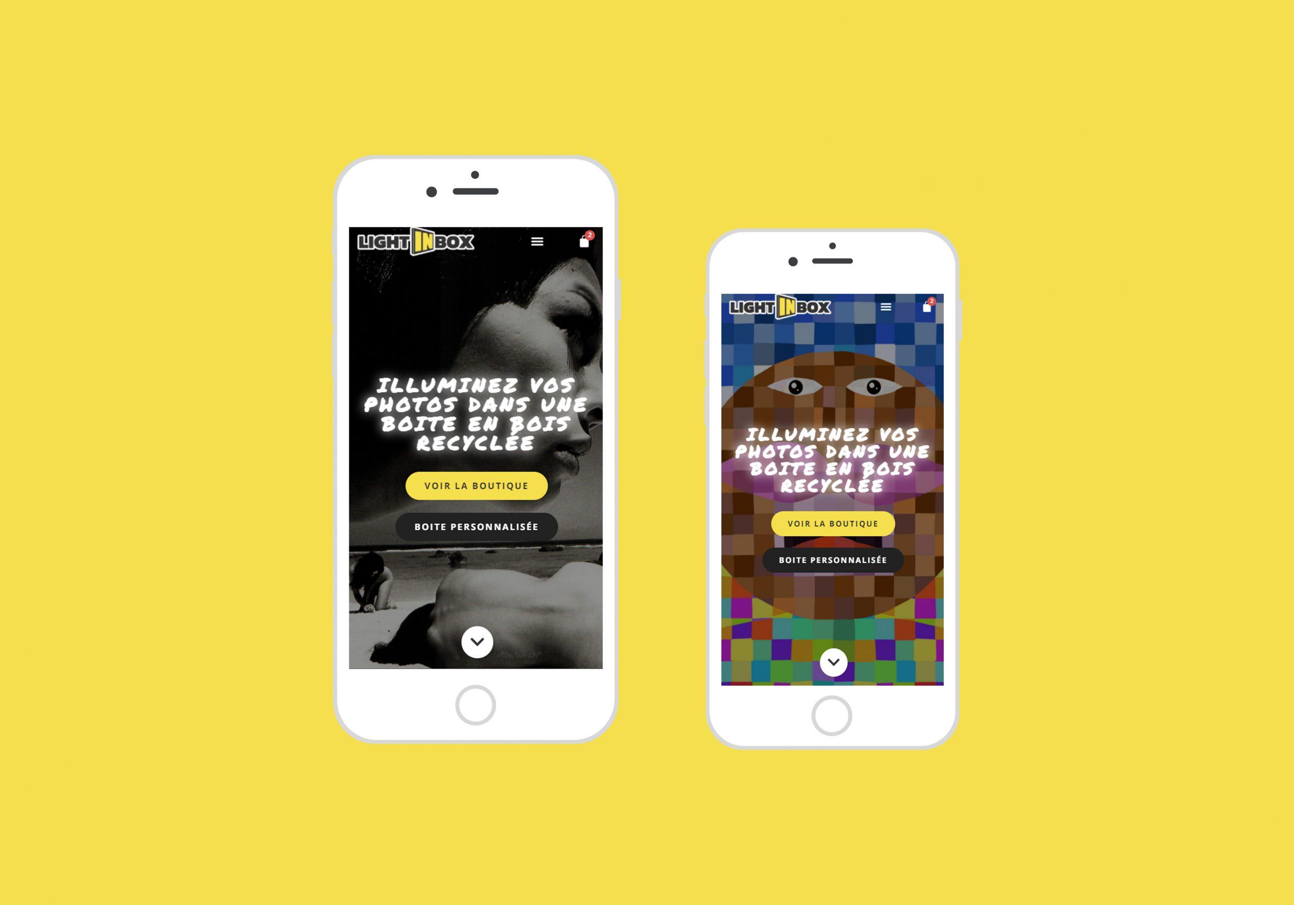 Design WooCommerce du carrousel d'accueil de la boutique sur mobile